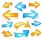 Colour arrows. Vector illustration of colour arrows Stock Photos