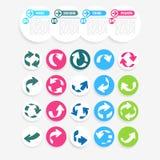 Colour arrows Stock Photo