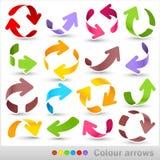 Colour arrows Stock Photography