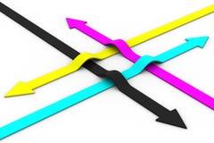 Free Colour Arrows On White Background. CMYK Stock Image - 13787301