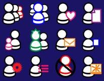 Colour bąbla użytkownika ikony set Zdjęcia Royalty Free