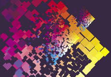 Colour background. Geometry graphic illustration from colour square Stock Photo