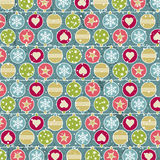 Colour background with christmas balls, vector Royalty Free Stock Image