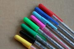 Colour ball pens Stock Photography