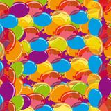 Colour balloons background. Vector illustration Stock Image