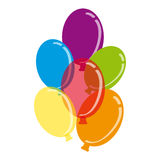 Colour balloons on white background. Vector illustration Royalty Free Stock Photos