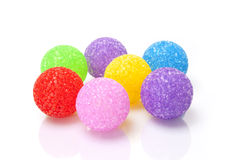 Colour balls. On white background Royalty Free Stock Photography