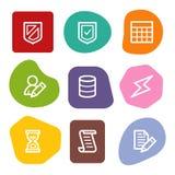 colour baza danych ikon serii punktów sieć ilustracja wektor