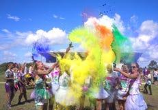 Colour bieg zabawy rasa obraz stock