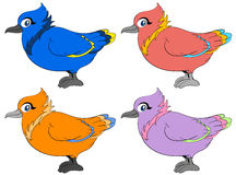 Colour birds Royalty Free Stock Photography