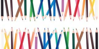 Colour blyertspennor Arkivfoto