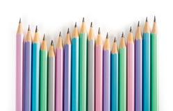 Colour blyertspennor Arkivbild