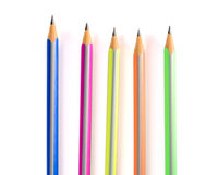 Colour blyertspennor Arkivfoton