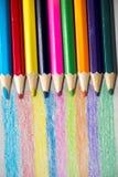 Colour blyertspennor Royaltyfri Foto