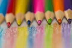 Colour blyertspennor Royaltyfri Bild