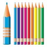 Colour blyertspennor Fotografering för Bildbyråer