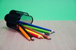 colour blyertspennor olika Royaltyfri Bild