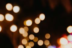 Colour bokeh lights blurred background stock photo