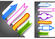 Colour bookmarks. Collection of colour bookmarks. Vector illustration Stock Photography