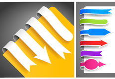 Colour bookmarks. Collection of colour bookmarks. Vector illustration Royalty Free Stock Photo