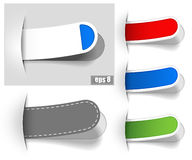 Colour bookmarks. Colour paper bookmarks. Vector illustration Royalty Free Stock Photography