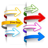 Colour bookmarks. Collection of colour bookmarks. Vector illustration Royalty Free Stock Photos