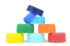 Colour bottle caps Royalty Free Stock Photo