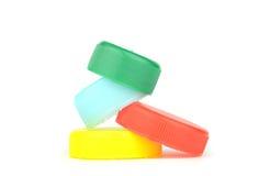 Colour bottle caps Stock Photo