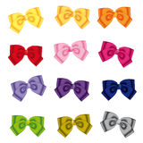 Colour bows Royalty Free Stock Image