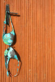 Colour Bra / door background Royalty Free Stock Images