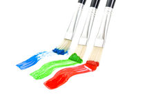 Colour brushes Royalty Free Stock Photo