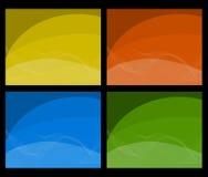 Colour Business Background Set Stock Images