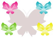 Colour butterflies Royalty Free Stock Photography