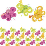Colour butterfly pattern. Illustration of kids colour butterfly pattern Royalty Free Stock Images