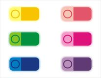 Colour buttons Stock Image