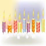 Colour candles Stock Photo