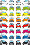 Colour car icons. Icons Reproducing a little Car in various colors Royalty Free Stock Images