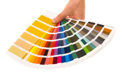 Colour card. On isolated background. Shot in studio royalty free illustration