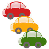 Colour cars Royalty Free Stock Photos