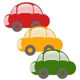 Colour cars Royalty Free Stock Photos