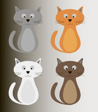 Colour cat set Stock Photography