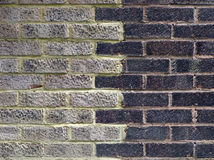 colour ceglana ściana dwa Fotografia Stock