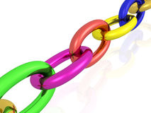 Colour chain Stock Photography