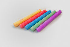 Colour chalk. On a white background Stock Image