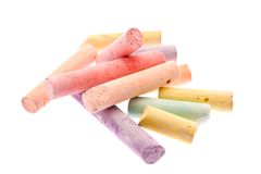 Colour chalk Royalty Free Stock Photos