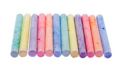 Colour chalk Stock Photos