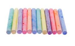 Colour chalk Stock Photos