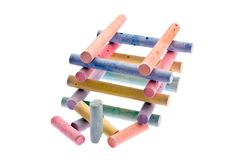 Colour chalk Royalty Free Stock Images