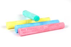 Colour chalks Royalty Free Stock Photography