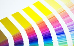 Colour chart Stock Images